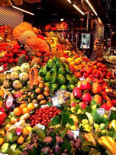 La Boqueria BCN Fruit Market Variation Vegetable Food Multi Colored Abundance Food And Drink EyeEm Diversity
