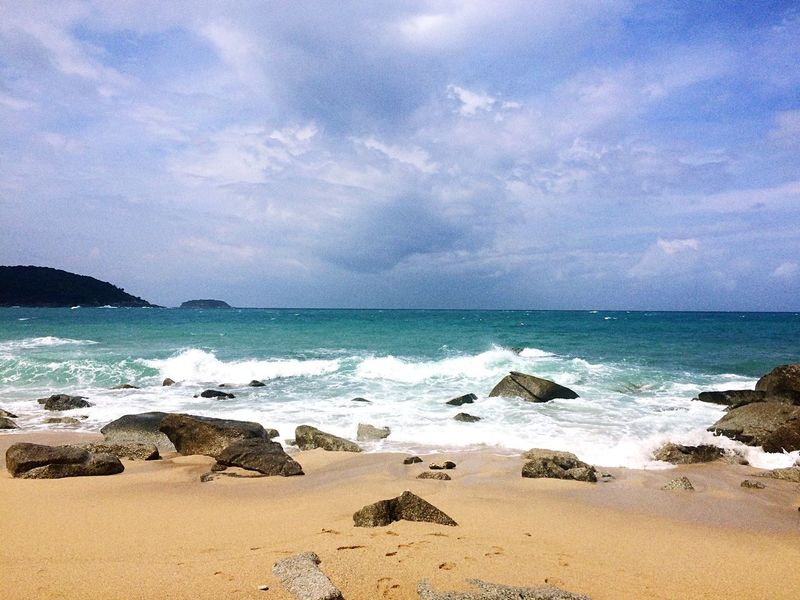 Sea Horizon Over Water Beach Sand Sky Beauty In Nature Nature Water Scenics Cloud - Sky Tranquility Wave Tranquil Scene No People Outdoors Day