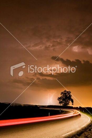 Street Thunderstorm Istockphoto Cloudscape