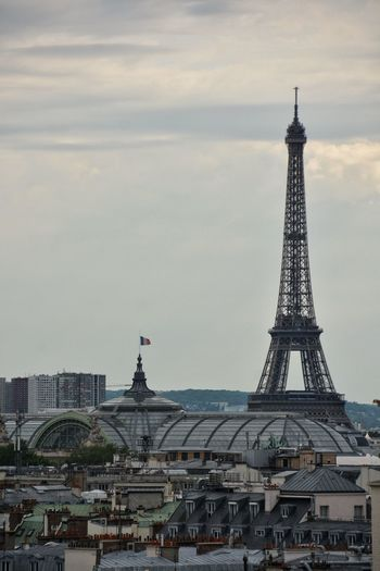 Eiffel Tower With Sky In Background