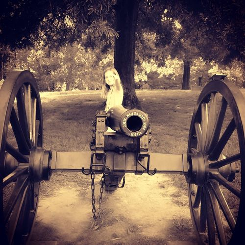 Fort Ogelthorpe Georgia Chickamaga Battlefield Civil War Cannon BOOM! Staringdownthebarrel Sepia
