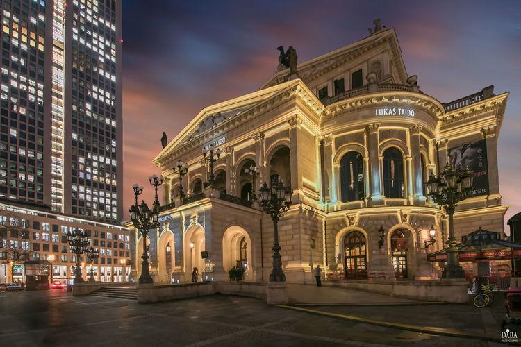 EyeEm EyeEm Gallery EyeEm Best Shots Alte Oper Frankfurt Am Main Architecture Building City Façade Illuminated First Eyeem Photo