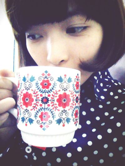 Taking Photos Peace And Love My New Cup