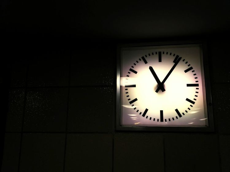 Station Clock Nightlife Time Clock Clock Face Night Indoors  Minute Hand No People Midnight