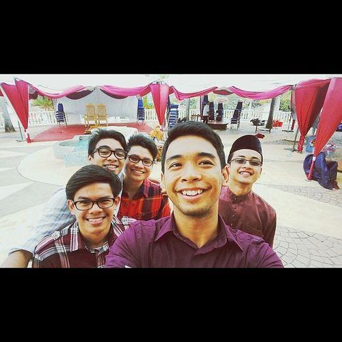All five of us WeddingCrashers FantasticFive TheClickFive Angin Mangin Boojet Hashtag Chillax Gayz