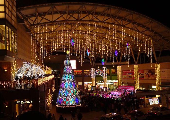 merry Xmas Nagasaki JAPAN 長崎市 長崎駅 Christmas Christmas Tree Celebration Illuminated Christmas Decoration Tradition Christmas Lights