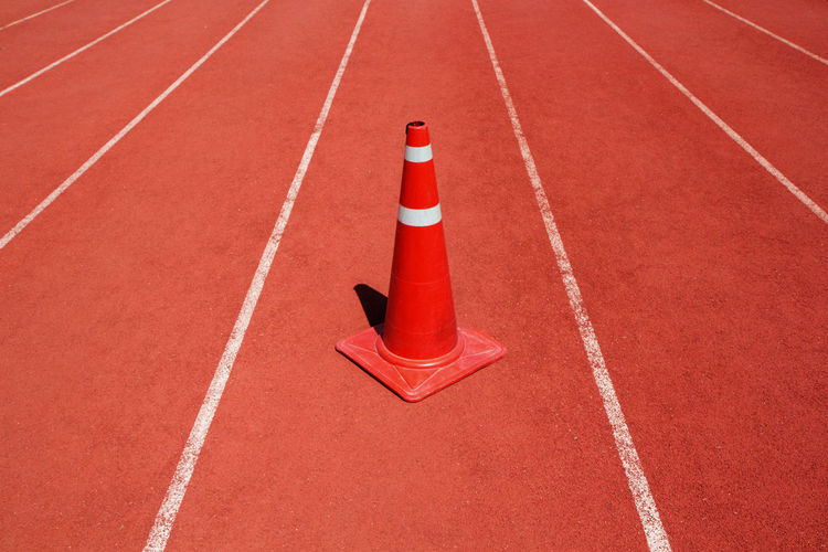 Abstract Activity Background Colorful Competition Course Empty Exercise Field Fitness Ground Lifestyle LINE Lines Nobody Outdoor Pattern Race Racetrack Red Road Rubber Run Running School Speed Sport Stadium Start Surface Team Texture Time Track University White Win Under Construction Traffic Cone