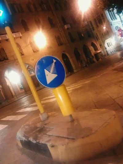 ...Sign in the Cagliari city night Cagliari Urban City Nightshot Nighttime Funnydrawing