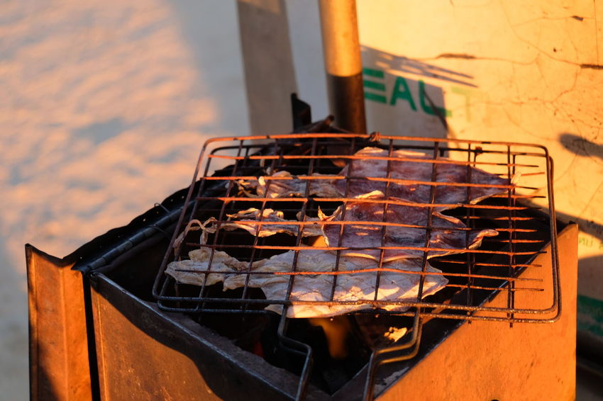 Barbecue Barbecue Grill Close-up Day Focus On Foreground Food Food And Drink Freshness Grate Grid Grilled Heat - Temperature High Angle View Meat Metal Metal Grate No People Outdoors Preparation  Preparing Food