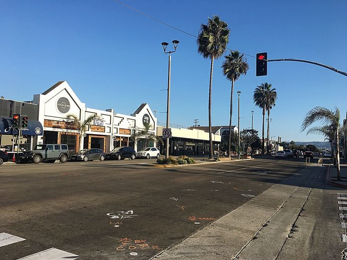 Californication California Beach The Beach Life Rami Bdiri Sky Street Architecture City Nature Built Structure Street Light Day Clear Sky Building Exterior No People Sign Outdoors Communication Text Road Western Script Transportation Sunlight
