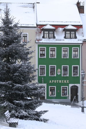 Building Exterior Architecture Built Structure House City Residential Building No People Outdoors Tree Business Finance And Industry Day Stolpen City Lantern Cristmas Tree Apothecary Green Winter