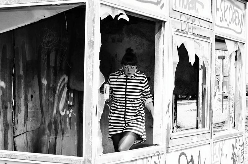 Blackandwhite Photography Close-up Black Black & White Outdoors Lostplaces Lostplace Lost And Found, Travelling The World Girl Graffiti