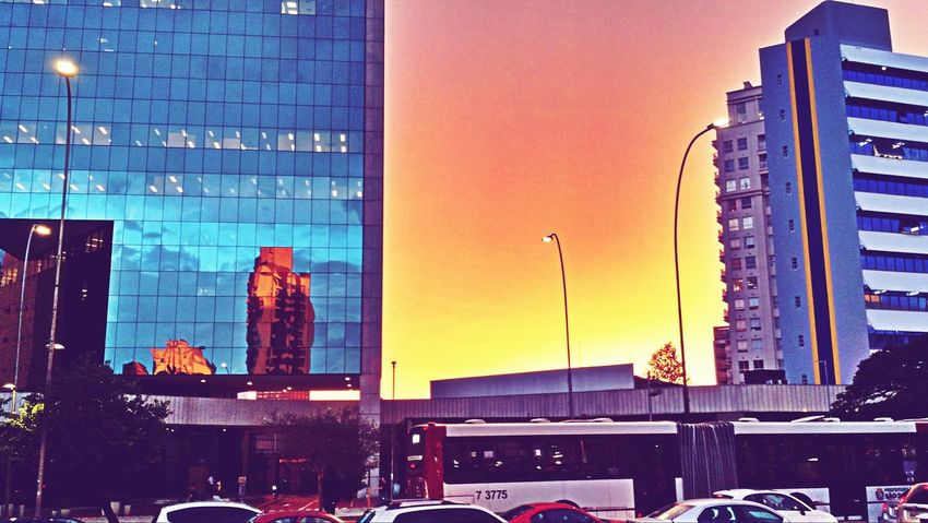 Yellow , Blue and Orange | Saopaulo Brazil Buildings Sunset Sky