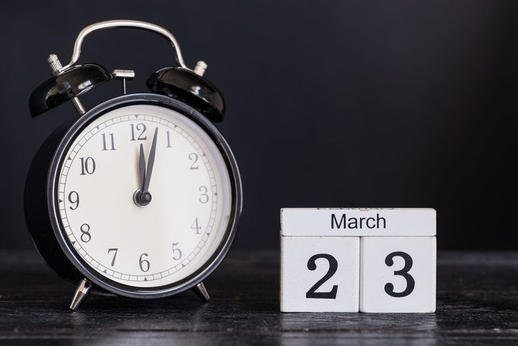 23 Date Alarm Clock Clock Face Close-up Day March Month