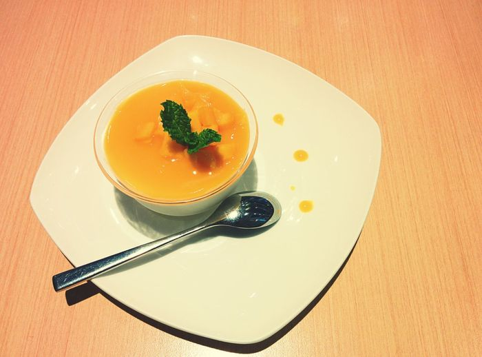My Favorite Breakfast Moment Mango Pudding Delicious Food