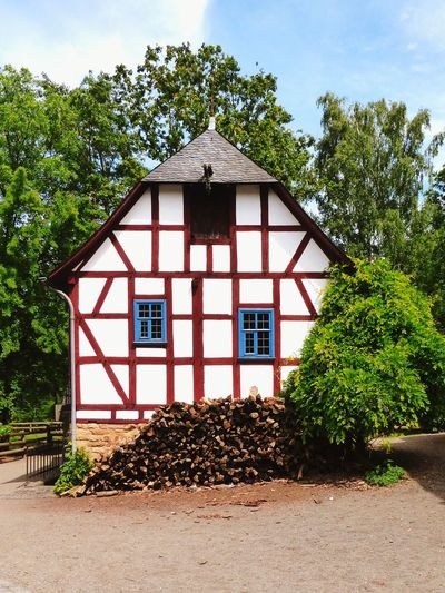 Architecture Tree Built Structure Open Air Museum Nature Plant Building Exterior House No People Entrance Window Rural Scene Building Outdoors Sky Cloud - Sky Middle Ages Half-timbered Half-timbered Houses Farm Life Farmhouses Farm House Environment Springtime EyeEm Nature Lover