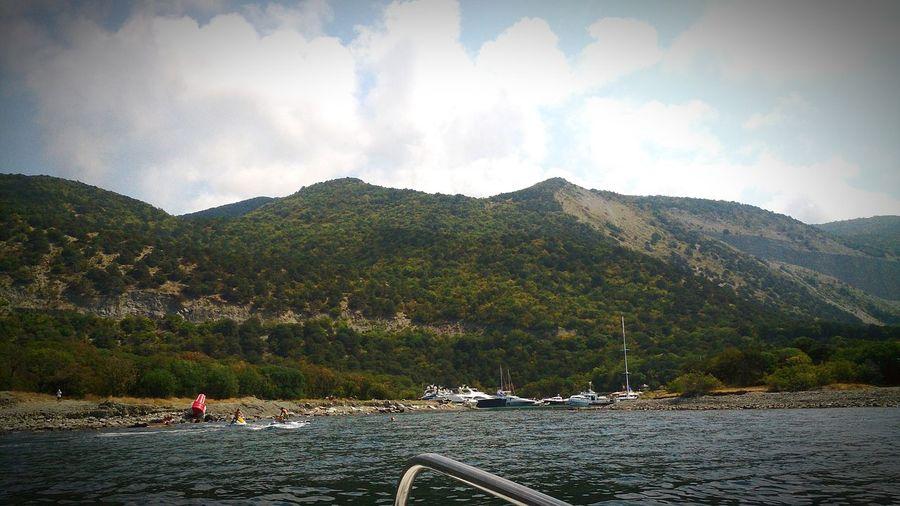 Анапа2015 Большой Утриш лучшиемоменты лучшее время летние прогулки на катере ныряние в Чёрное море дайвинг) Love♡