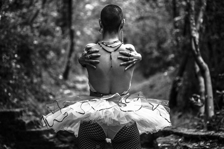 Dancing The Portraitist - 2018 EyeEm Awards Art And Craft Ballet Dancer Creativity Day Focus On Foreground Forest Human Representation Land Male Likeness Nature Outdoors Park Plant Rear View Representation Sculpture Tree