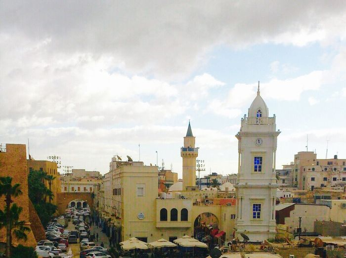 Near Downtown Tripoli..(old side of tripoli) This Is Tripoli Hanging Out Nice City Tripoli Check This Out Taking Photos Good Day Clouds And Sky Libya Architecture