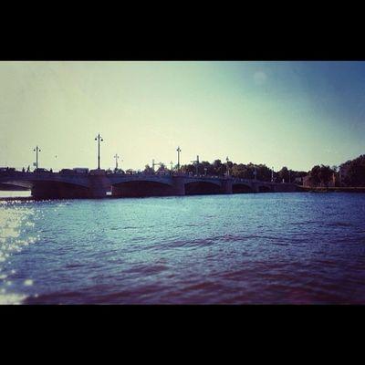 Bridge River Neva Spb russia photo iphone instagraphy snapseed nikon nice water фото река нева спб россия красиво мост