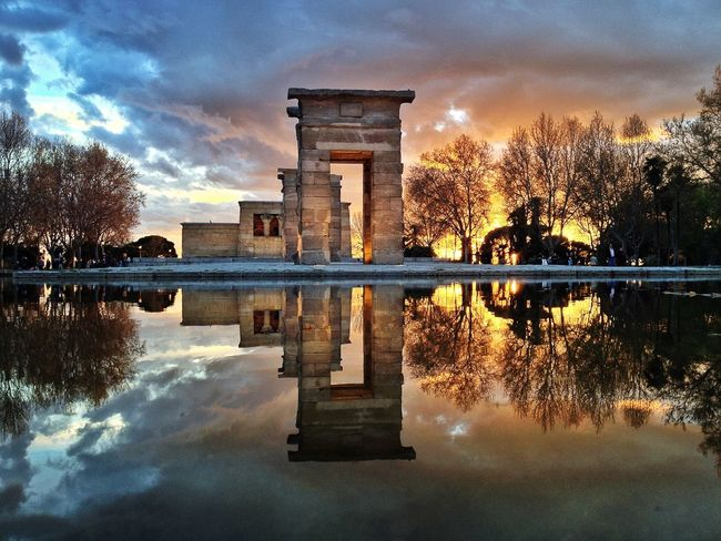 Templo de Debod The Moment - 2015 EyeEm Awards The Traveler - 2015 EyeEm Awards Water Reflections IPhoneography Youmobile Mobilephotography AMPt_community Iphoneonly NEM Architecture The Architect - 2015 EyeEm Awards Colour Of Life