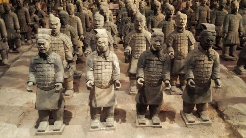 Historic Clay Warriors Clay Sculpture Asian Heritage ASIA Check This Out No Location Needed Ancient Civilization Amazing Tadaa Community Capture The Moment Old Ancient Miles Away