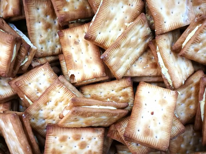 sandwich biscuits background Food EyeEm Selects Backgrounds Full Frame Pattern Close-up For Sale Prepared Food Retail Display Served Stall Pastry Jute