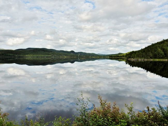 Heavenly Norway Reflection Beauty In Nature Cloud - Sky Day Lake Mountain Nature Outdoors Reflection Reflection Lake Reflection_collection Reflections Reflections And Shadows Reflections In The Water Scenics Sky Tranquil Scene Tranquility Tree Water Waterfront
