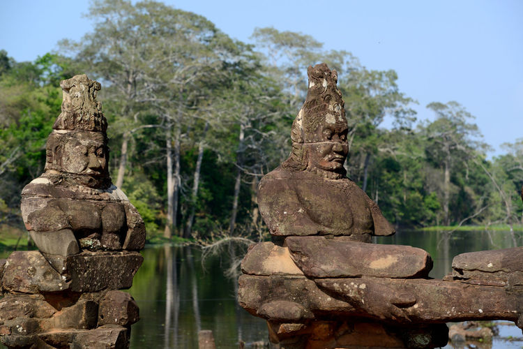 Old statues at ankor wat