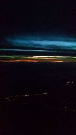 Sunset Speed Commercial Airplane Nature