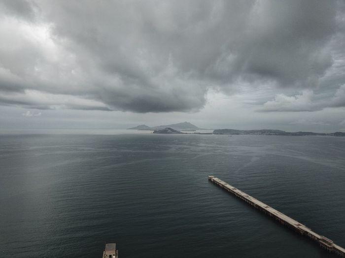 Naples, Coroglio Aerial Coroglio Landscape Sky Cloud - Sky Beauty In Nature Nature Water Weather Tranquil Scene