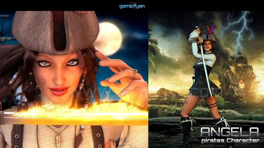 Pirate Woman Animation Character Maker 3D Animation Studio 3D Character Animator Animation Animation Character CG Anima CG Animation Character Character Design  Characterdesign Game Character Animation Rigging Rigging Artist First Eyeem Photo