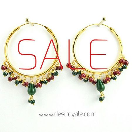Check out our Beautiful Goldplated Earrings Bridal at www.desiroyale.com http://www.desiroyale.com/collections/earrings/products/firoza-hoop-earrings-with-maroon-and-green-beads Sale Freeshipping Desi Desiroyale Wedding Punjabi Picoftheday Photooftheday Indianbride Accessories Jewelry MustHave Trend Stylist Buy Burningman Diwali Rakhi Gift Online  Shopping loveit desiweddings