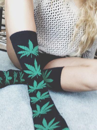 Weed, Huff Socks Marijuana Style