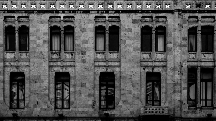 Architecture Building Exterior Built Structure Window Outdoors Low Angle View No People Architectural Column Canoneos Canonphotography Canon_official Illuminated Backgrounds Contrast Adobephotoshop AdobeLightroom Lightroom Postproduction EyeEm Best Shots Eyeemphotography EyeEm BYOPaper! Nightlife B/W Photography Blackandwhite Photography The Graphic City