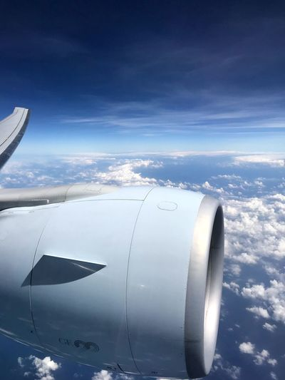 GE90 engine and wing on a Boeing 777-ER. Cathay Pacific flight CX163 from HKG to MEL. Cathay Pacific Australia Melbourne Cx Airplane Sky Jet Engine Flying Aircraft Wing Boeing Boeing 777 Boeing77w Day Airplane Wing Photography Transportation Plane Plane View