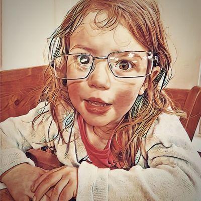 My Beautiful Littlelady wearing Daddies  glasses Cheekymonkey