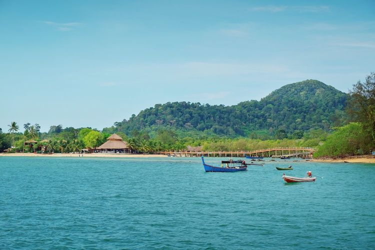 Ranong, Thailand Summer Travel Beach Vacation Thailandtravel Island Tree Outdoors Tranquil Scene Sea Travel Nature Beauty In Nature Day Waterfront Blue