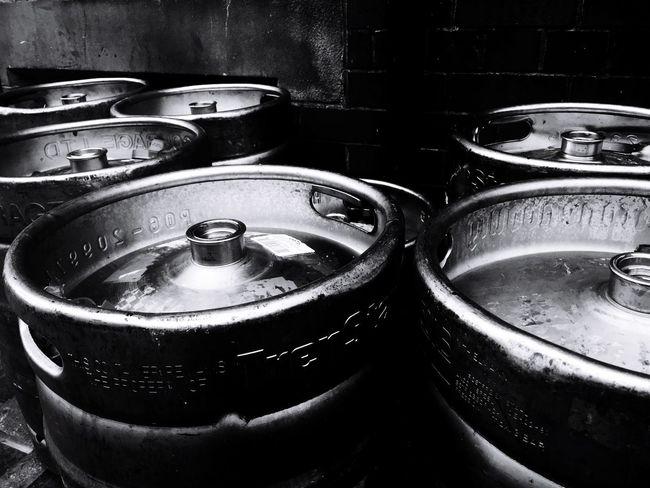 Kegs on the street Metal Close-up Metal Beer Kegs Kegs Metal Objects Beer Time Blackandwhite Photography Streetphotography