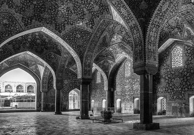 Shah Abbas Mosque Ricoh Gr Ricohgr Blackandwhite Monochrome Esfahan Arabisque Mosque Shah_abbas_mosque