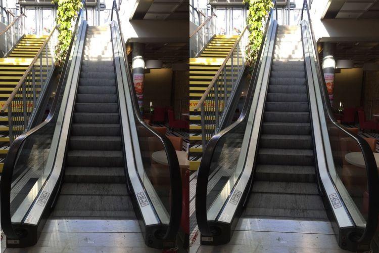 Au choix et avec cette chaleur, je vais prendre l'Escalator 😛😅 3D En Louchant 3D Relief Crosseyes