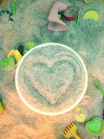 Love Simple Things Simple Love Sandspit Sandart