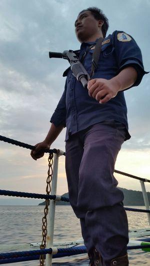 Portaiture Behind The Scenes Shooting Ferry Boat Shotgun Ocean EyeEm Gallery Peace ✌ Dude Untold Stories