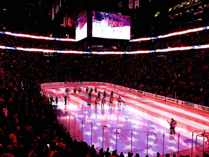Centre Bell Hockey Flag United States NHL Canadien Montréal Sport