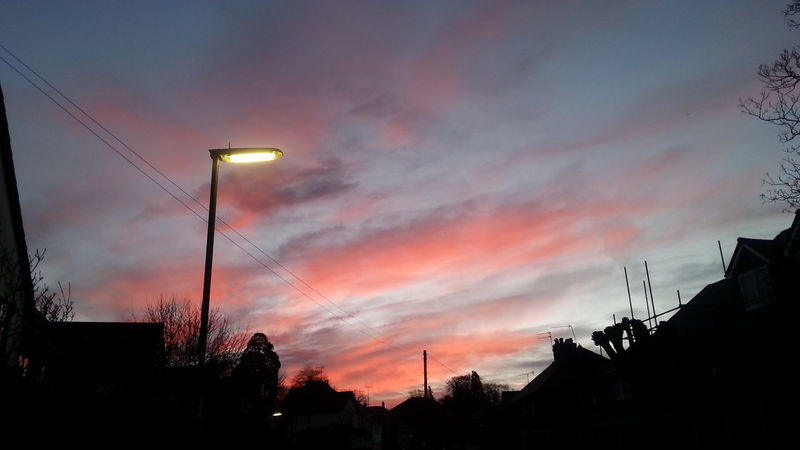 At Dawn  Early Spring End Of Winter Morning Light Sunrise Dawn Clouds From My Point Of View Pink