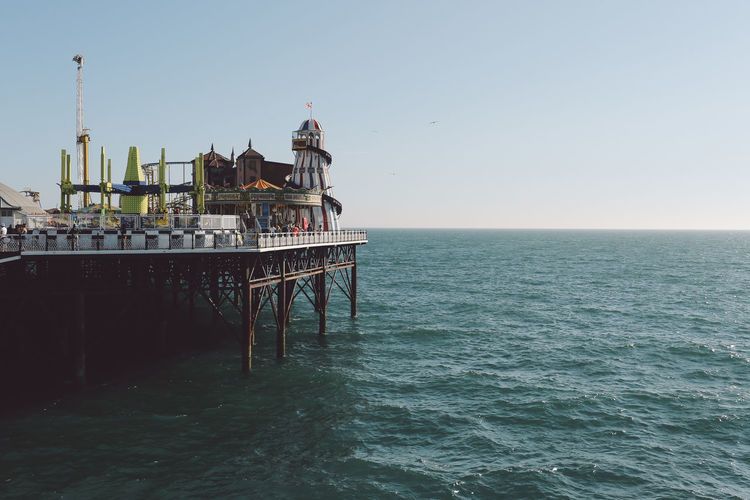 Architecture Beach Beauty In Nature Brighton Brighton Pier Built Structure Clear Sky Clear Sky Day Horizon Over Water Nature No People Outdoors Rippled Scenics Sea Seaside Shore Sky Summer Sunny Tranquil Scene Tranquility Vacation Water British Culture