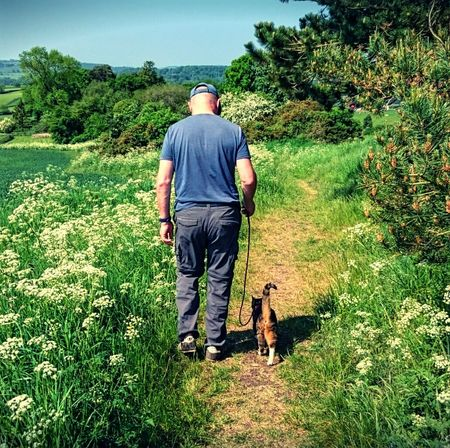 Kev and Marley heading for a little adventure The Following Walking The Cat Cat On A Lead Cats Cats Of EyeEm Tabby Cat Animals Pets Having Fun Hanging Out With My Cat Countryside Sunny Day Country Walks Footpath Landscape Landscape_Collection The Essence Of Summer- 2016 EyeEm Awards