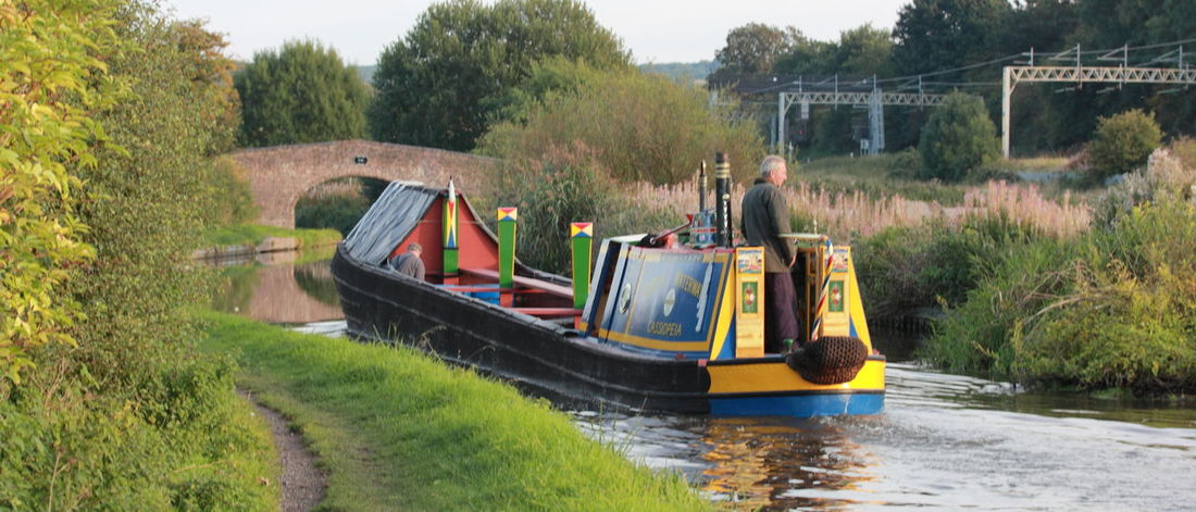 Boat Bridge Canal Mode Of Transport Outdoors Railway Line Staffordshire Water Working Narrowboat