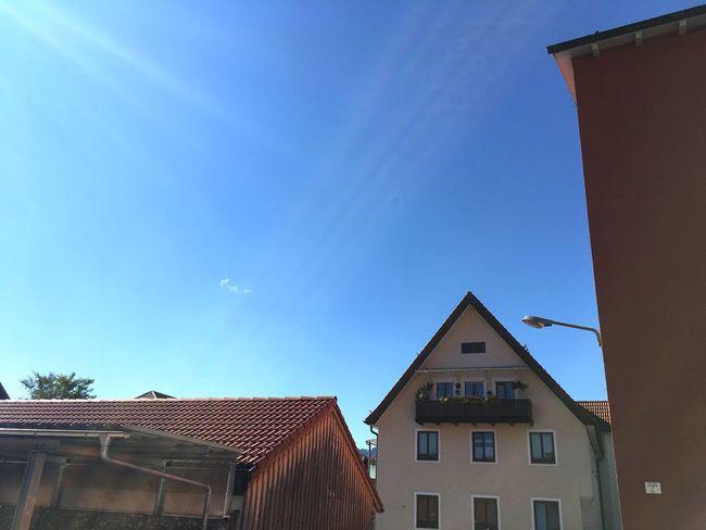 Bavarian City Bavarian Architecture Architecture Architecture_collection Bavaria Built Structure Low Angle View Bad Tölz Upper Bavaria Bavarian Houses Blue Sky Sunny Good Weather City City Houses