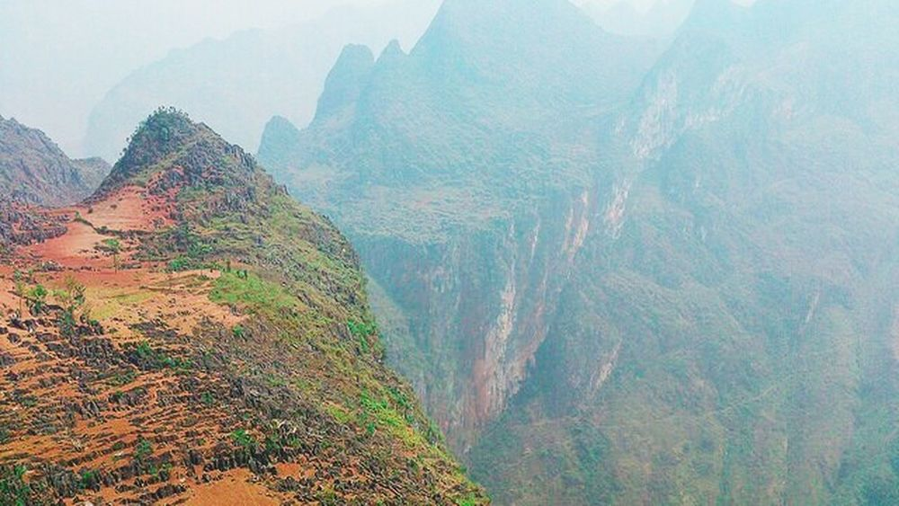 Exploring New Ground Hà Giang Viet Nam Travelling On The Road Mountain View Landscape Just Around The Corner